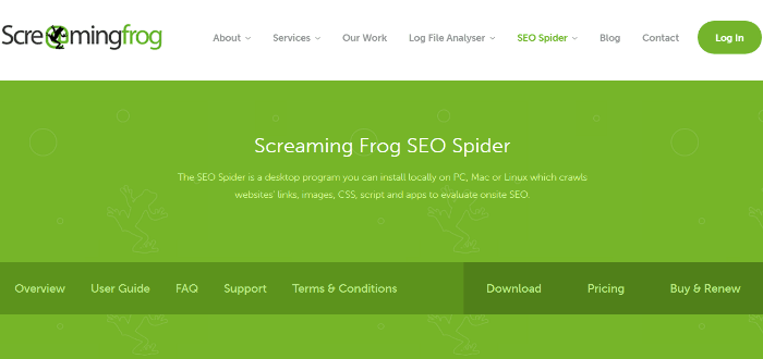Screamingfrog SEO spider
